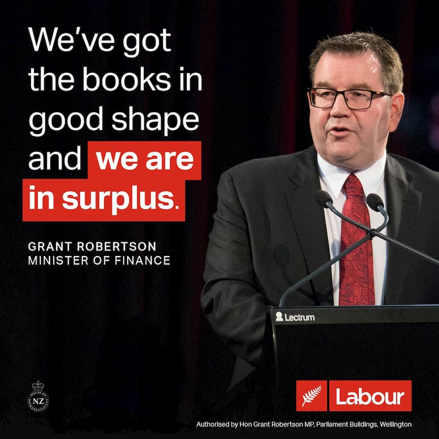 We've got the books in good shape and we are in surplus – Minister of Finance Grant Robertson