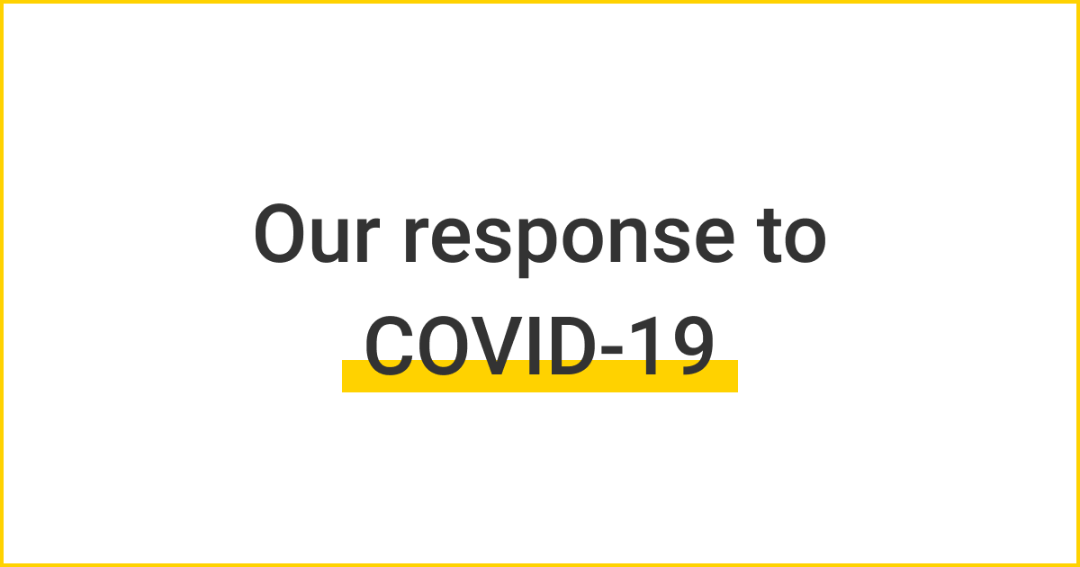 Thumbnail for Our response to COVID-19