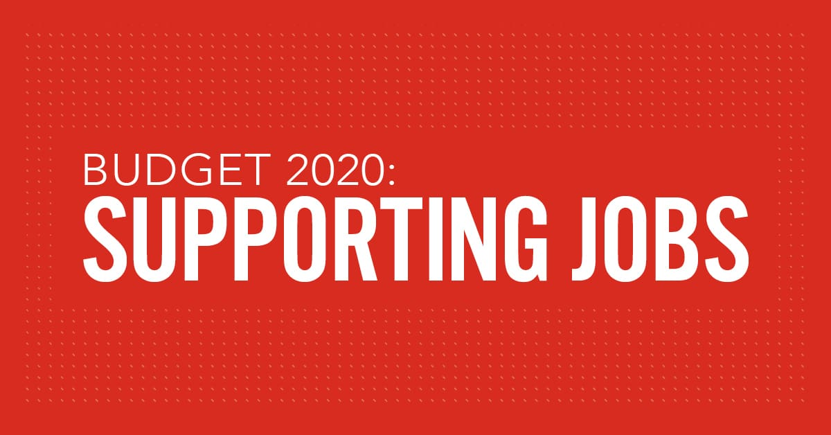 How Budget 2020 is supporting jobs thumbnail