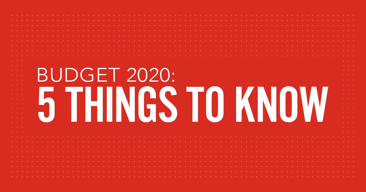 Budget 2020: Five things to know thumbnail
