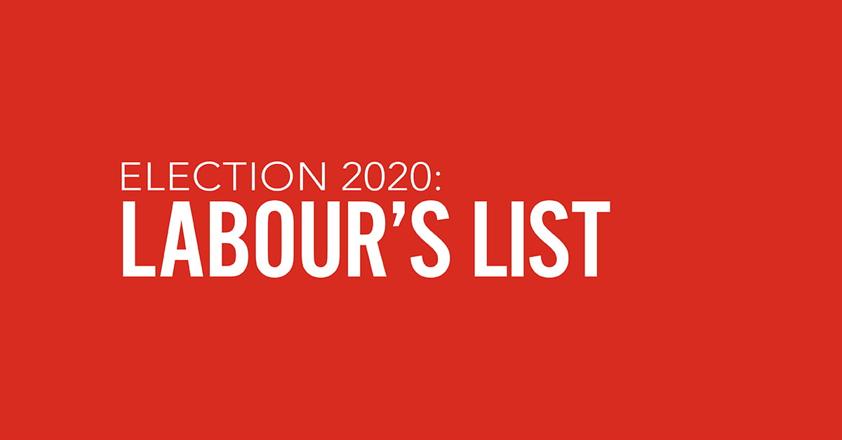 Labour announces list for 2020 Election thumbnail