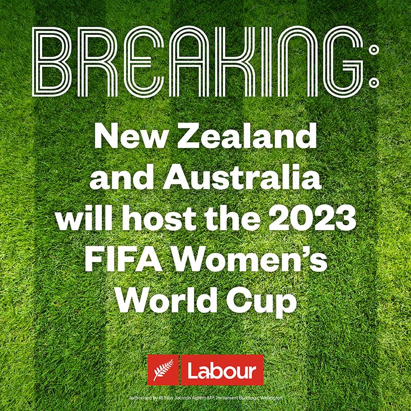New Zealand and Australia will host the 2023 FIFA Women's World Cup
