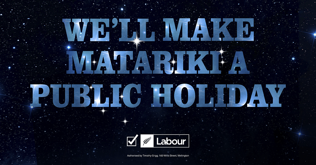 Labour will make Matariki a public holiday thumbnail