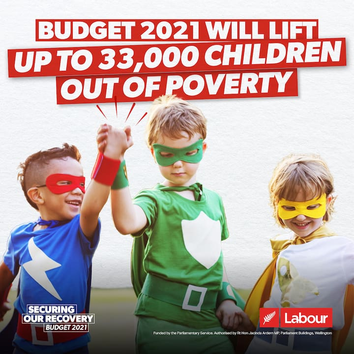 Budget 2021 will lift up to 33,000 children out of poverty