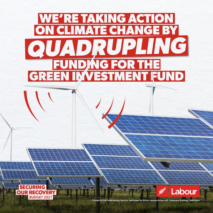 We're taking action on climate change by quadrupling funding for the Green Investment Fund