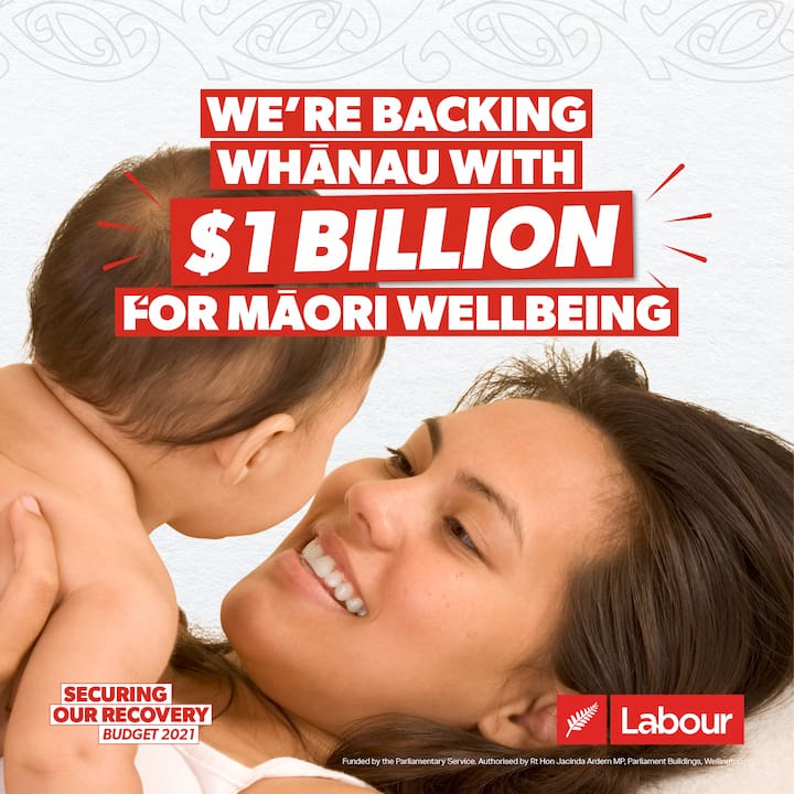 We're backing whānau with $1b for Māori wellbeing