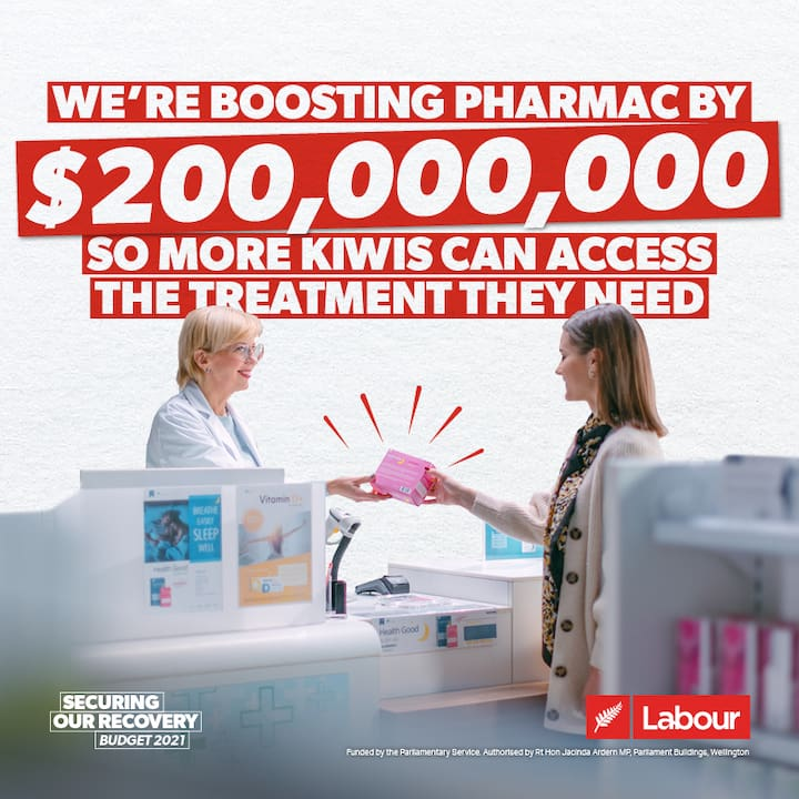 We're boosting Pharmac by $200m so more Kiwis can access the treatment they need