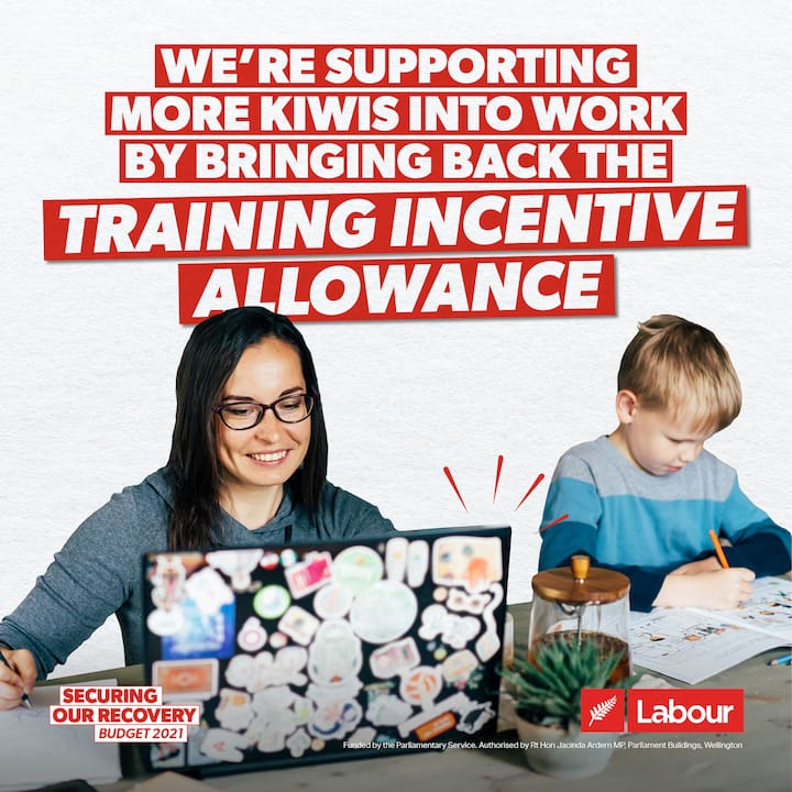 We're supporting more Kiwis into work by bringing back the Training Incentive Allowance