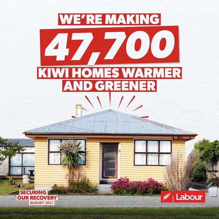 We're making 47,700 Kiwi homes warmer and greener