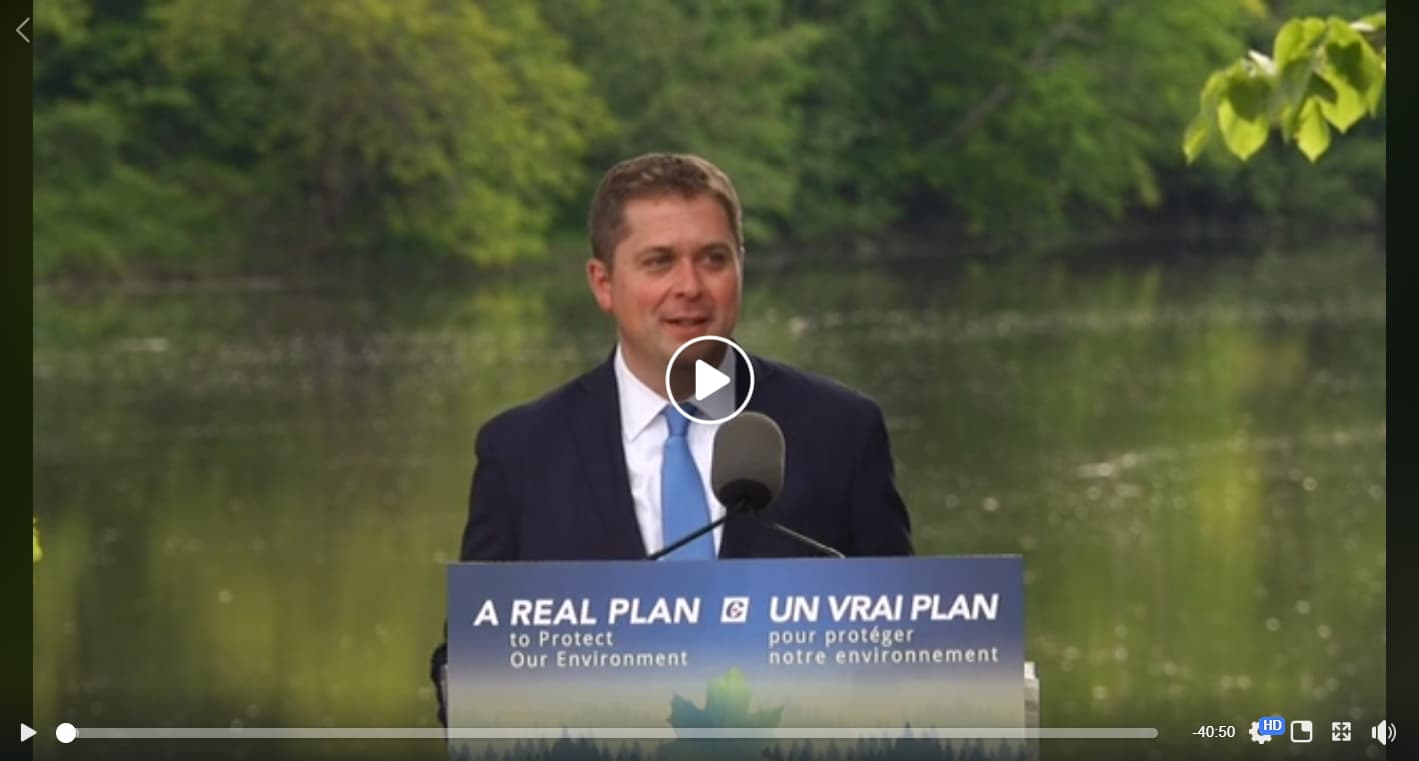 Andrew Scheer lays out A Real Plan to Protect the Environment