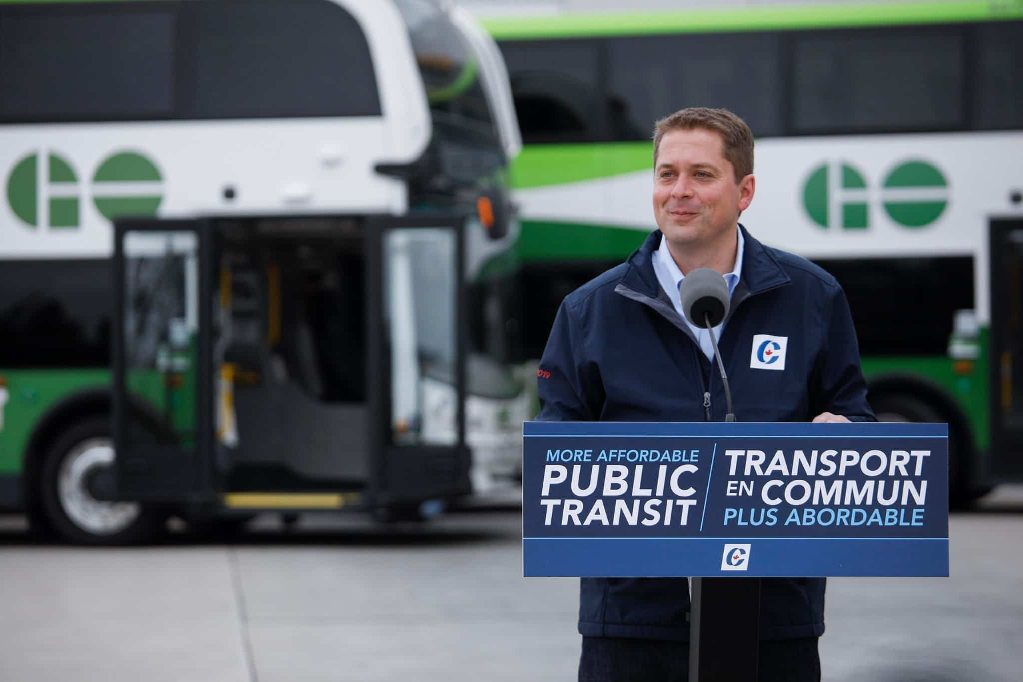 Andrew Scheer will reduce cost of public transit