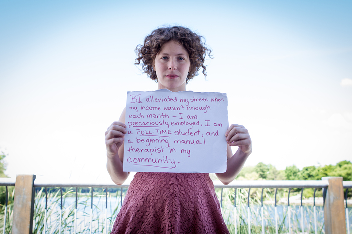 photo of Sarah from Humans of Basic Income photo series