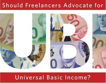 Freelancers Advocate for UBI Poster