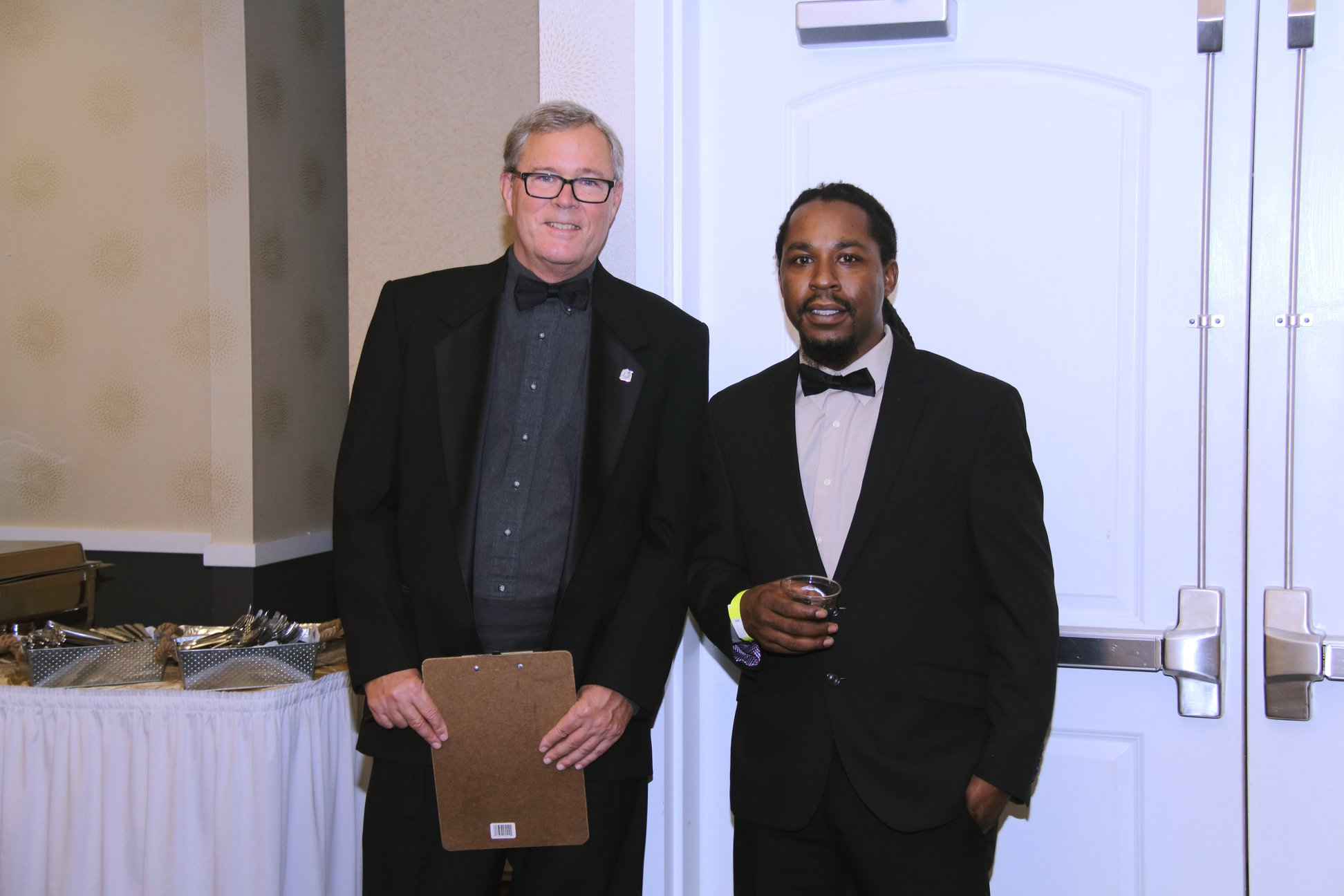 Bill Scheurer, OEP executive director, with John Crawford and Damonte Martin at the third annual awards dinner for the Black Lives Matter Lake County (IL) chapter.