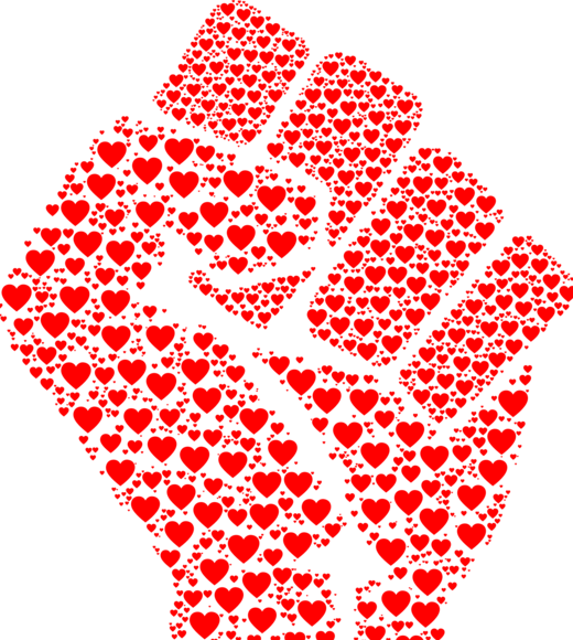 hearts-fist
