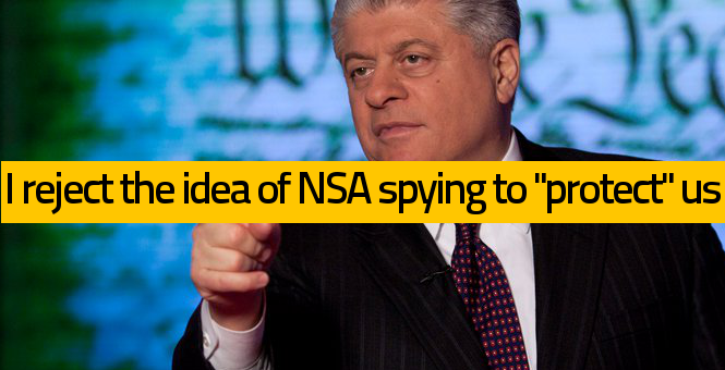 Judge Napolitano on NSA Spying