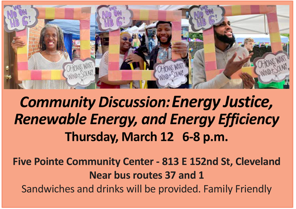 Community Discussion: Energy Justice, Renewable Energy, and Energy Efficiency