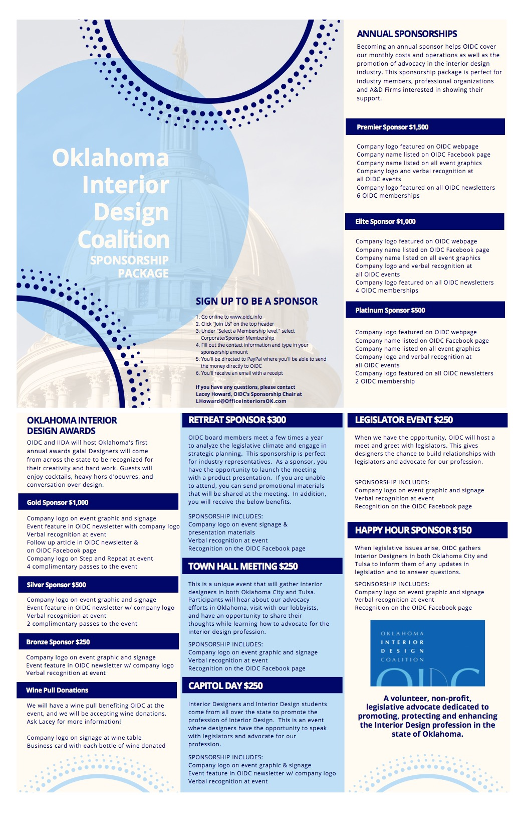 Sponsorship Info Oklahoma Interior Design Coalition