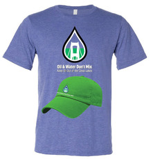 Oil & Water T-shirt and Cap