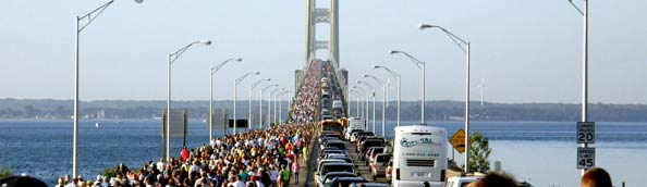 Mackinac Labor Day Bridge Walk