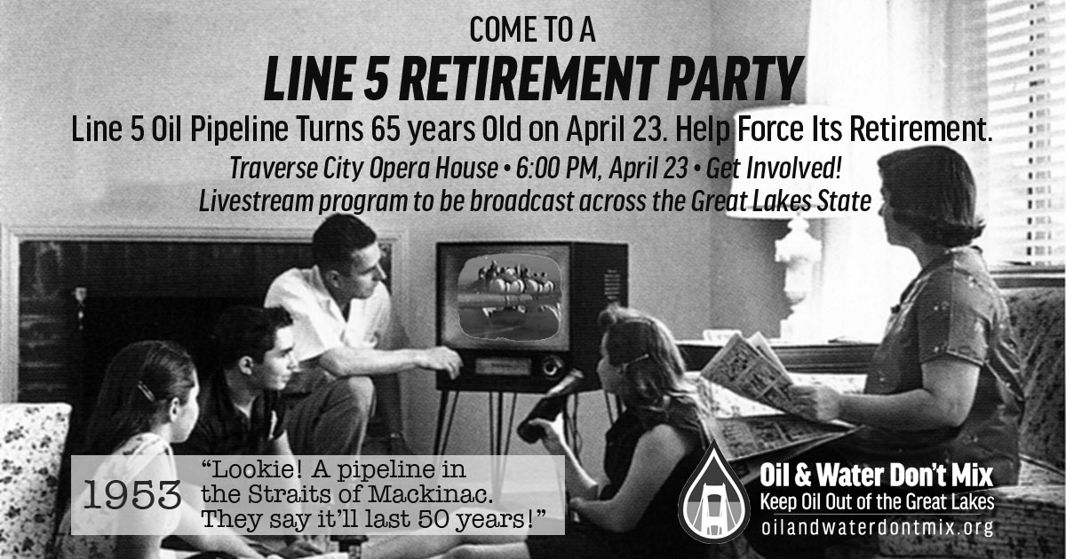 Come to Opera House for the Line 5 Retirement Party