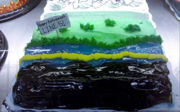 Line 5 Retirement Cake