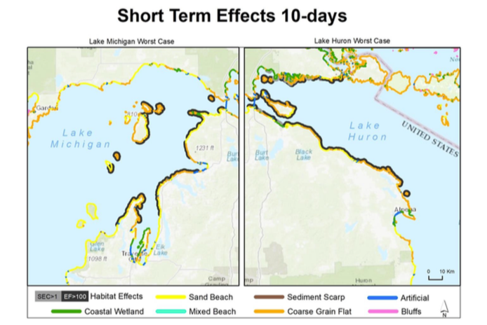 Oil Spill Effect Line 5 Great Lakes