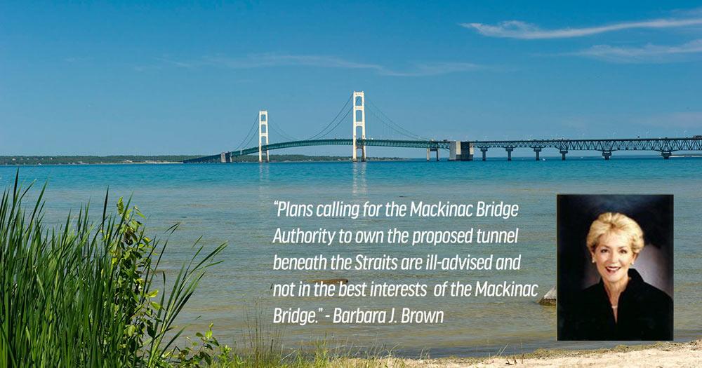 Mackinac Bridge Authority Owning Oil Tunnel Not Good for the Mackinac Bridge