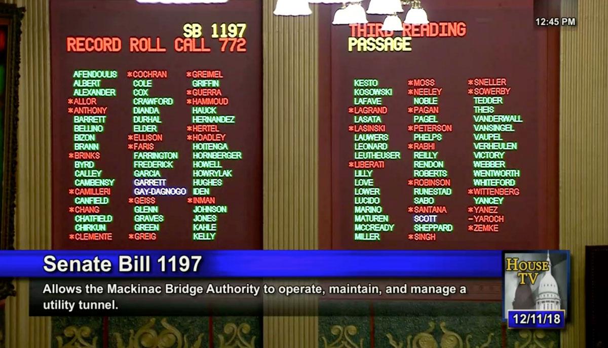 House Vote SB 1197