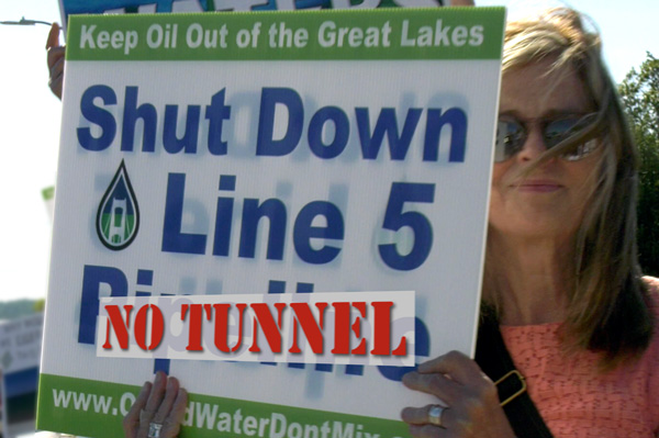 No Enbridge Oil Tunnel