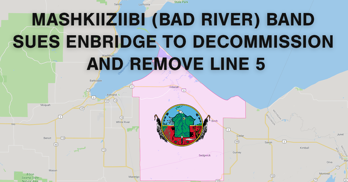 Bad River Band Sues Enbridge