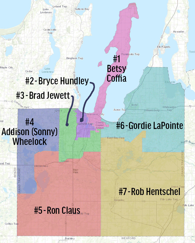 Grand Traverse County Commissioner Map