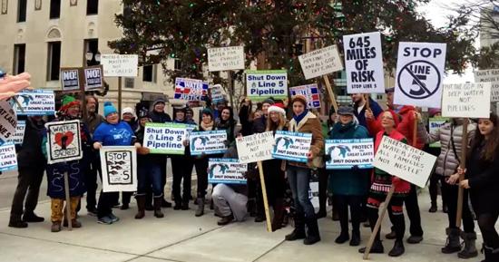 Protestors at Michigan's Capitol