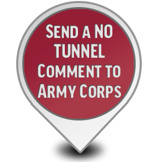 No Tunnel Comment to Army Corps