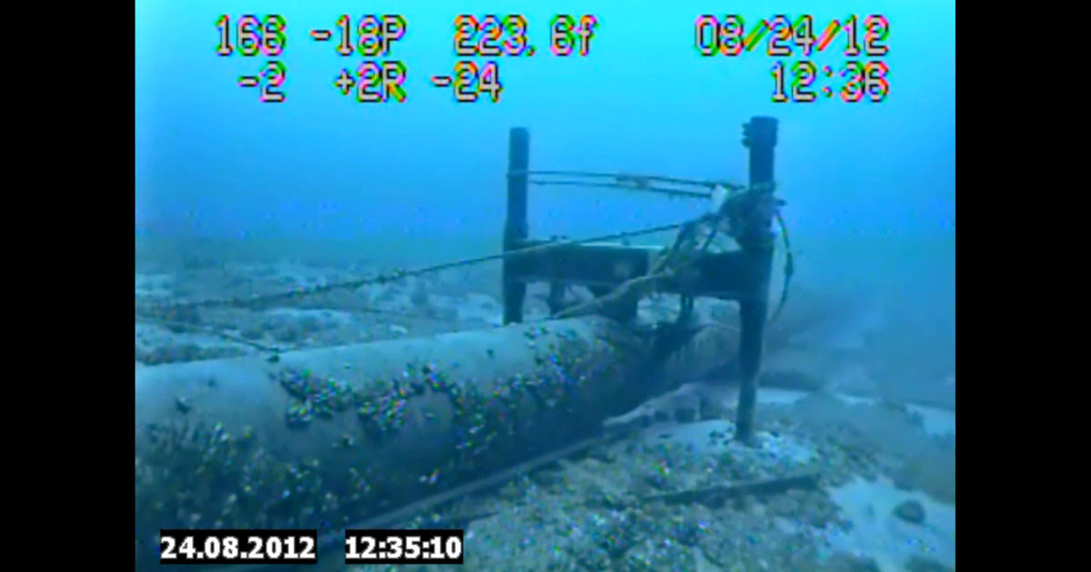 Line 5 Anchor Entangled with Fishing Gear