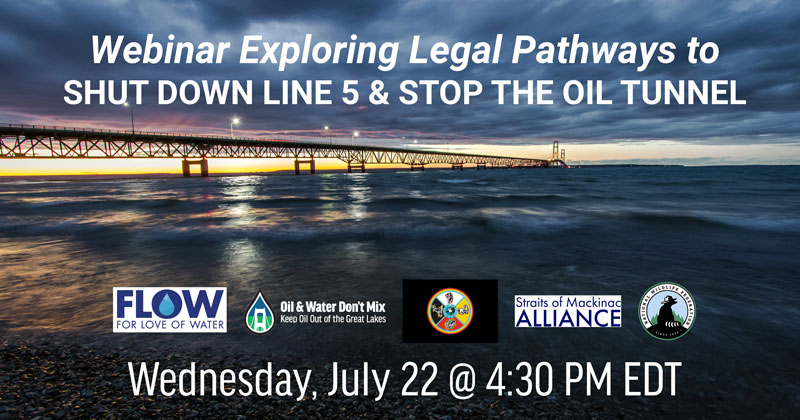 Legal pathways to shut down Line 5 Webinar