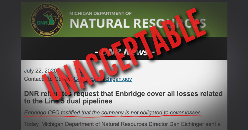 Enbridge Losses Unacceptable