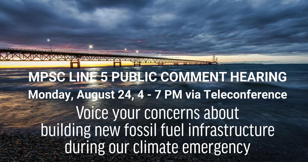 MPSC Line 5 Public Comment Event