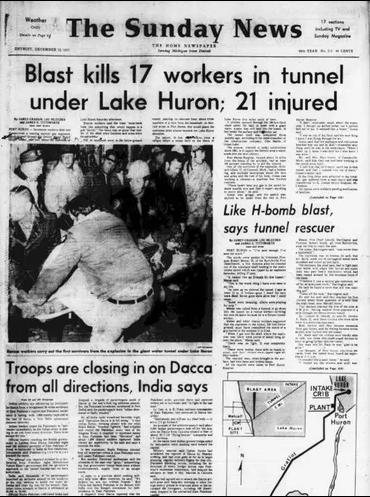Tunnel Blast Kills Workers archive newspaper