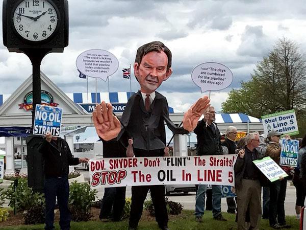 Bill Schuette Puppet Shutdown Line 5
