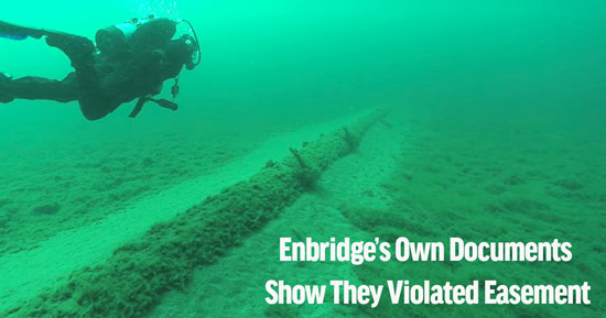 Enbridge Violated Easement