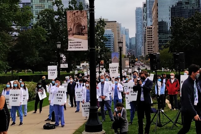 Demonstration at Queen's Park - Save Eye Care