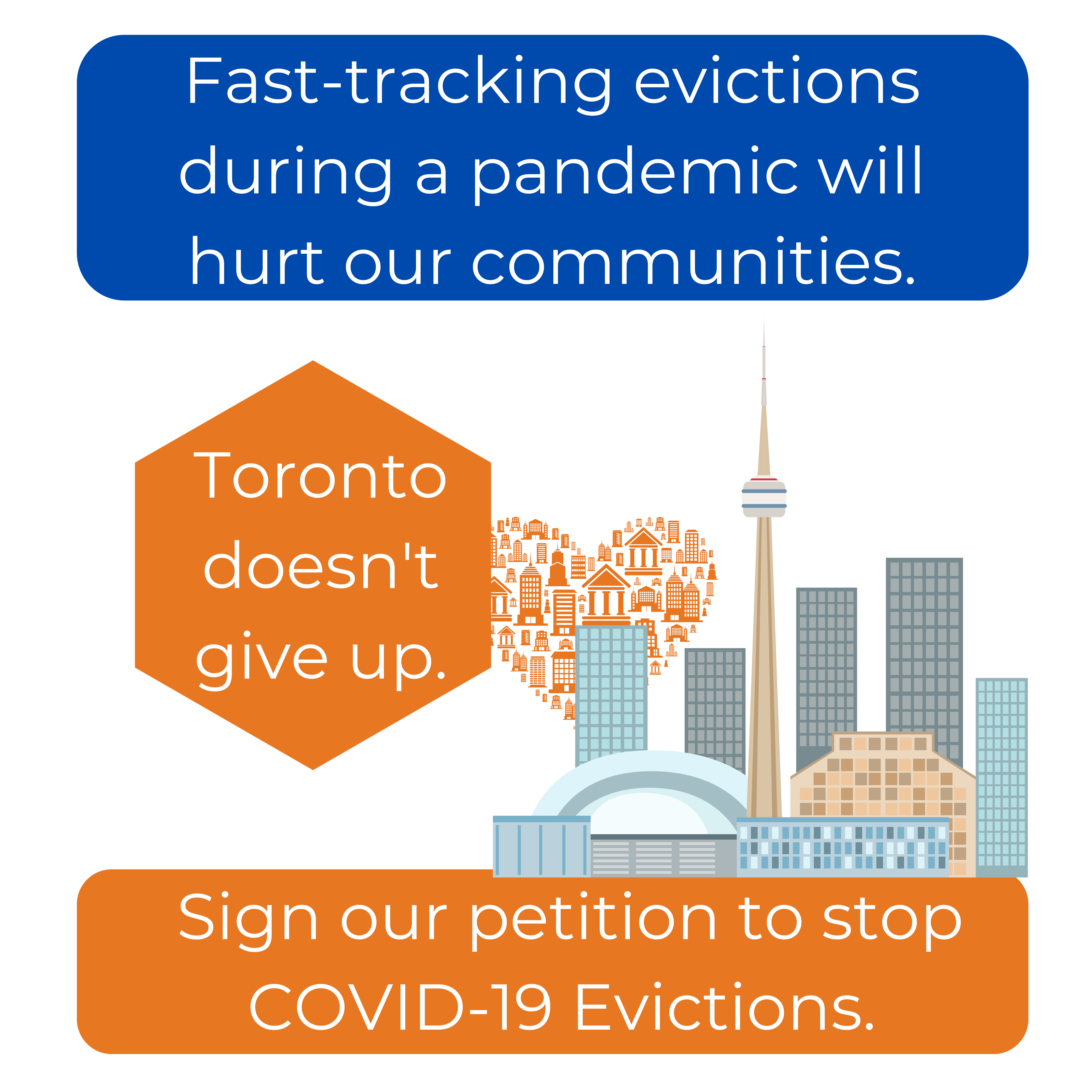 Fast-tracking evictions during a pandemic will hurt our communities. Sign our petition to stop COVID-19 Evictions.