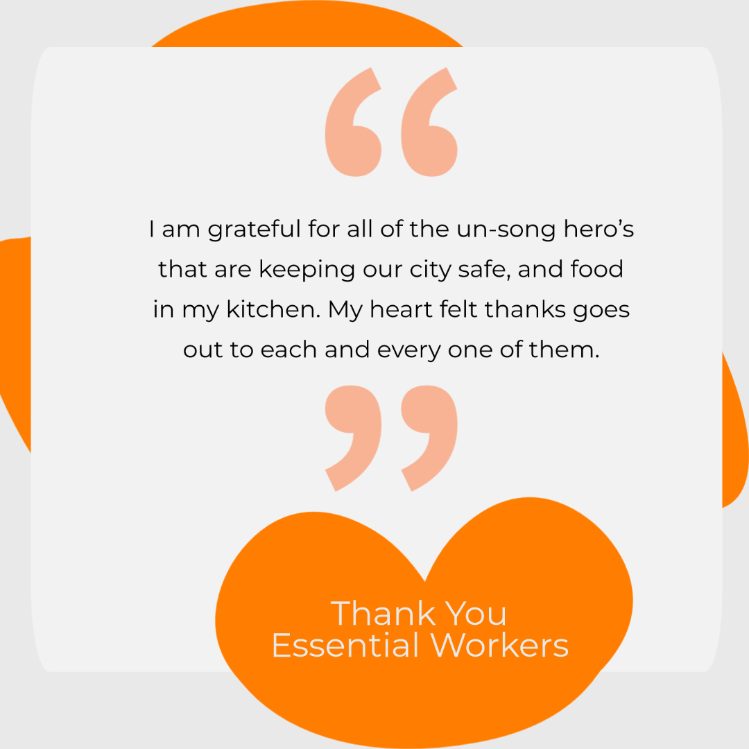 Thank You Essential Service Workers Suze Morrison