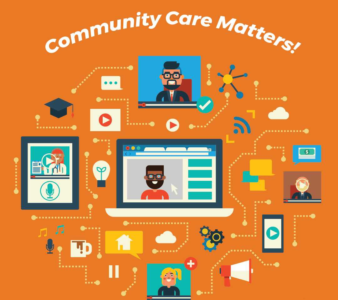 graphic saying that community care matters!