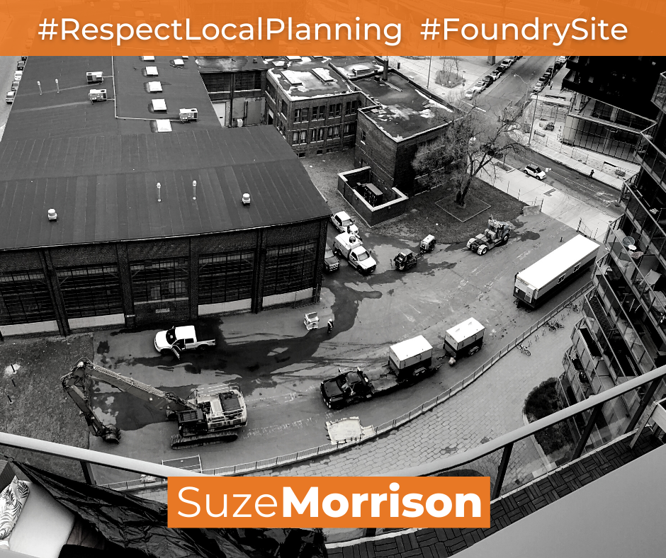 Image of democration with the caption Respect Local Planning and Save the Foundry