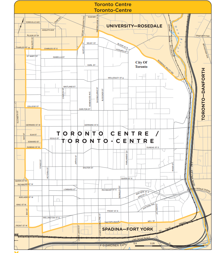 Map of Toronto Centre