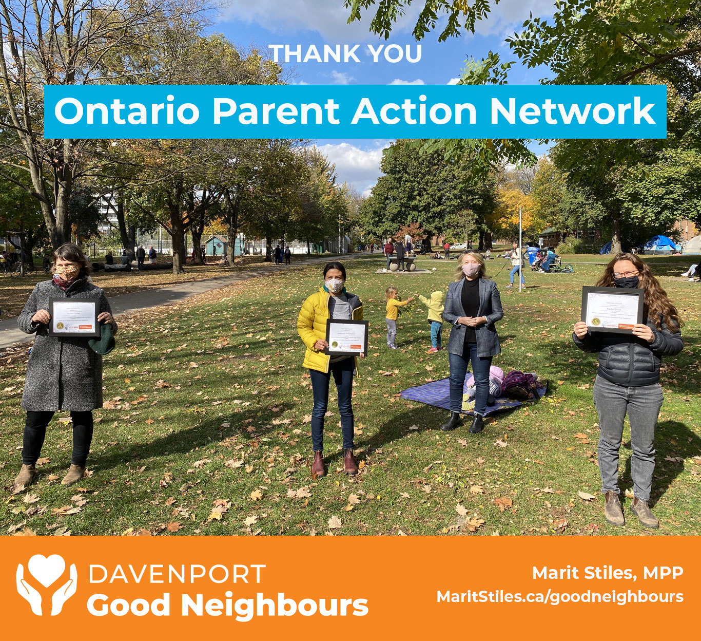 OPAN parents in Dufferin Grove