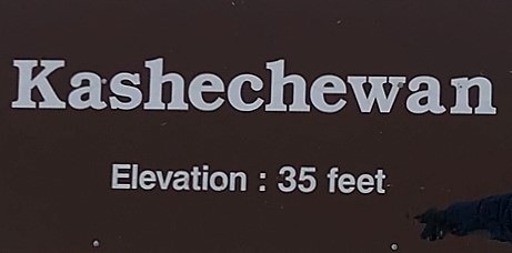 Sign at Kashechewan First Nation Airport