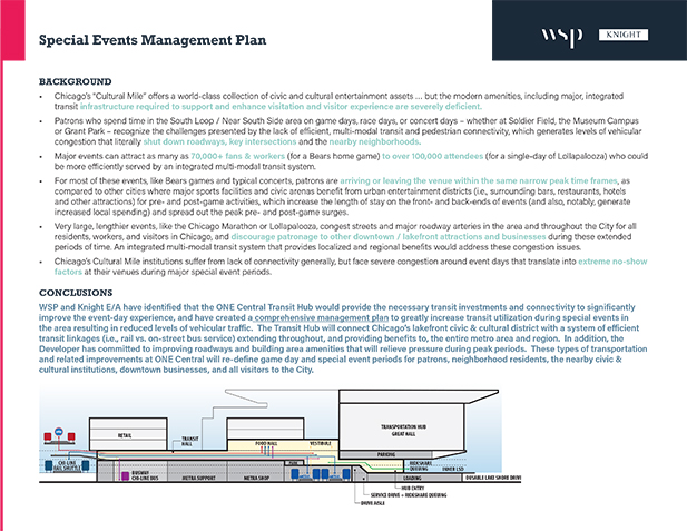Special Events Management Plan